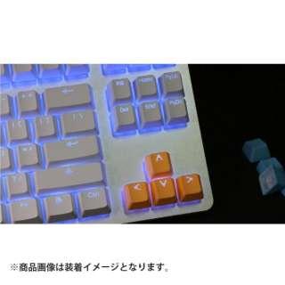 th-rubber-keycaps-neon-orange-8 ゲーミングキーキャップ Tai-Hao Rubber Gaming Backlit Keycaps-8 keys ネオンオレンジ