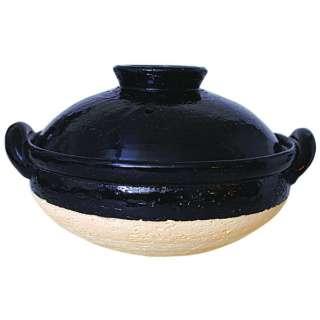 ヘルシー蒸し鍋 黒 大 NZW-18