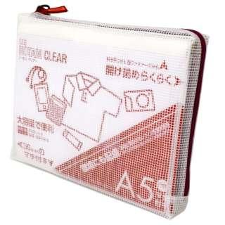 ノータム・クリアー マチ付 A5 レッド UNCM-A5#19