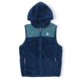 男女兼用 エルモフリースベスト Elmo Fleece Vest(Lサイズ/ネイビー×ティール) CH04-1244