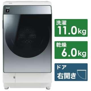 ドラム式洗濯乾燥機 シルバー系 ES-W113-SR [洗濯11.0kg /乾燥6.0kg /右開き]