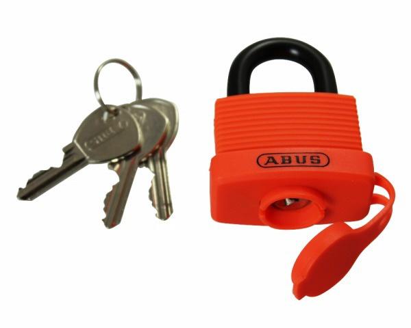 GS-805 ABUS 簡易防水南京錠 オレンジ 3本キー 00072805-001