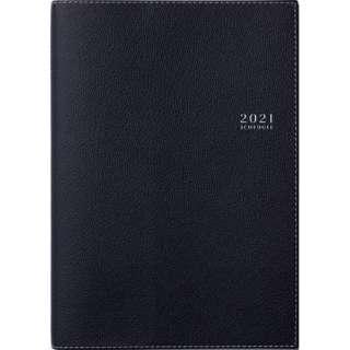 No.341 T'マンスリーロジェ1[ブラック]手帳 B6判マンスリー皮革調ブラック[2021年版1月始まり]