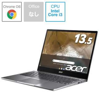 ノートパソコン Chromebook (クロームブック) Spin 713(コンバーチブル型) スティールグレイ CP713-2W-A38P/E [13.5型 /intel Core i3 /eMMC:64GB /メモリ:8GB /2020年10月モデル]