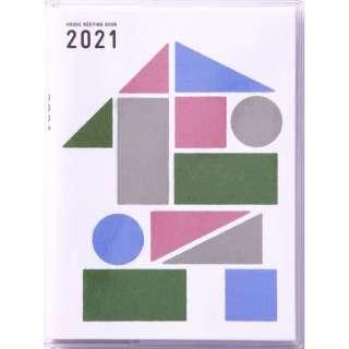 No.27 ミニ家計簿(月曜始まり)家計簿 A6変型判週計タイプクリアカバー[2021年版1月始まり]