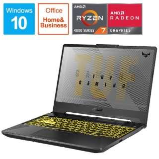ゲーミングノートパソコン TUF Gaming A15 フォートレス・グレイ FA506IH-R7G1650F [15.6型 /AMD Ryzen 7 /SSD:512GB /メモリ:8GB /2020年9月モデル]
