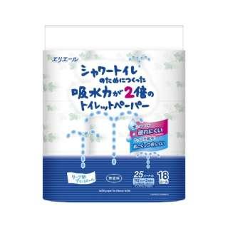 elleair(エリエール)シャワートイレのためにつくった吸水力が2倍のトイレットペーパー [18ロール/ダブル/25m]