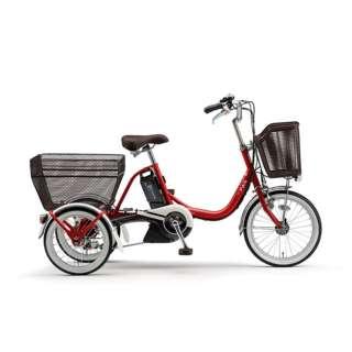 18/16型 電動アシスト自転車 PAS ワゴン(レッド/内装3段変速) PA16W【2020年モデル】 【組立商品につき返品不可】