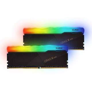 増設ゲーミングメモリ デスクトップPC用 KLEVV KD48GU880-36A180X [DIMM DDR4 /16GB /2枚]