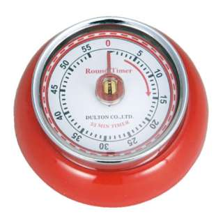 KITCHEN TIMER WITH MAGNET RED キッチンタイマー ウィズ マグネット 100-189RD
