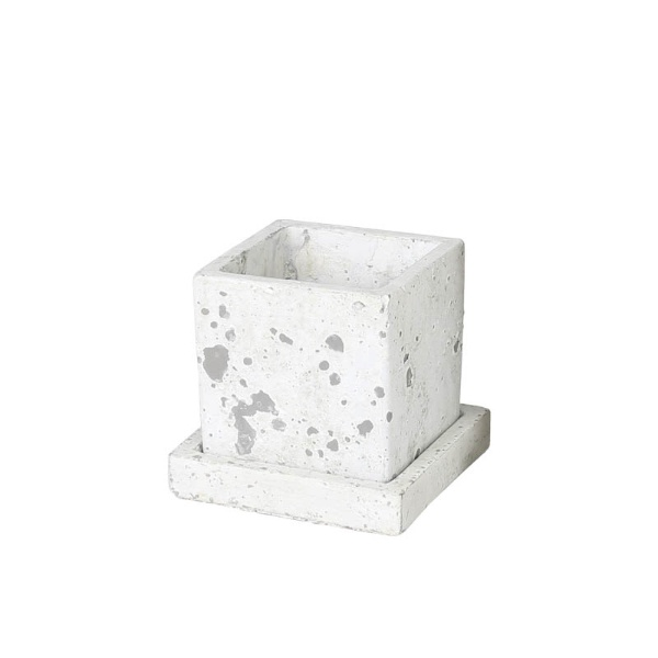 SOLID PLANTER CUBE S ROUGH GRAY ソリッド プランター キューブ S A655-758SRG