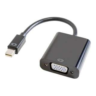 0.15m[Mini DisplayPort オス→メス VGA] 変換アダプタ ブラック GP-MDPV15H/K