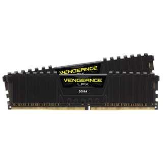 増設メモリ VENGEANCE LPX ブラック CMK16GX4M2D3200C16 [DIMM DDR4 /8GB /2枚]