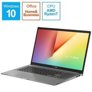 M533IA-BQ0BLTS ノートパソコン VivoBook S15 M533IA インディーブラック [15.6型 /AMD Ryzen 7 /SSD:1TB /メモリ:16GB /2020年9月モデル]