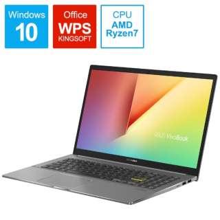 M533IA-BQ0BLT ノートパソコン VivoBook S15 M533IA インディーブラック [15.6型 /AMD Ryzen 7 /SSD:1TB /メモリ:16GB /2020年9月モデル]