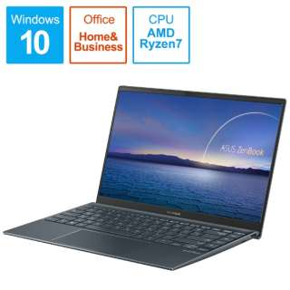 UM425IA-AM016TS ノートパソコン ZenBook 14 UM425IA パイングレー [14.0型 /AMD Ryzen 7 /SSD:512GB /メモリ:16GB /2020年9月モデル]