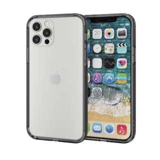 iPhone 12/12 Pro 6.1インチ対応 ハイブリッドバンパーケース ブラック
