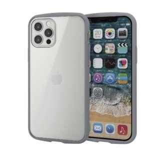 iPhone 12/12 Pro 6.1インチ対応 ハイブリッドケース TOUGH SLIM LITE フレームカラー グレー
