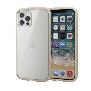 iPhone 12/12 Pro 6.1インチ対応 ハイブリッドケース TOUGH SLIM LITE フレームカラー アイボリー