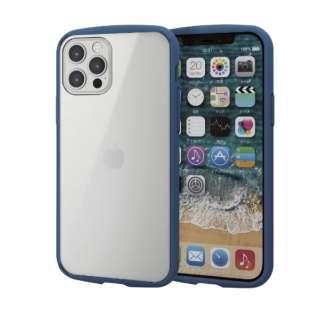 iPhone 12/12 Pro 6.1インチ対応 ハイブリッドケース TOUGH SLIM LITE フレームカラー ネイビー