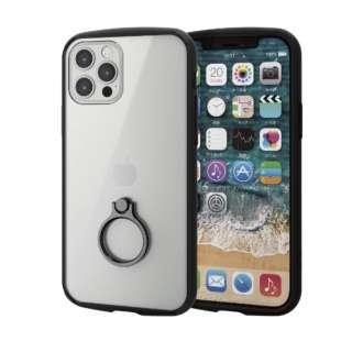 iPhone 12/12 Pro 6.1インチ対応 ハイブリッドケース TOUGH SLIM LITE フレームカラー リング付き ブラック