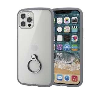 iPhone 12/12 Pro 6.1インチ対応 ハイブリッドケース TOUGH SLIM LITE フレームカラー リング付き グレー