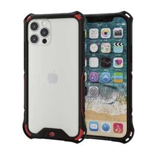 iPhone 12/12 Pro 6.1インチ対応 ハイブリッドケース ZEROSHOCK バンパー レッド