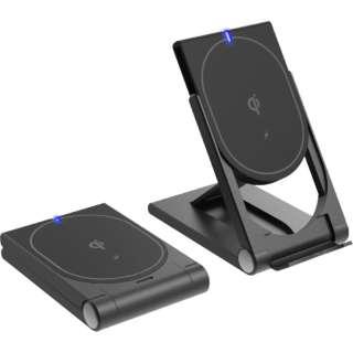 KW-16 ワイヤレス充電器2WAY <「QI」規格正規認証品/PD対応/USB-Cケーブル付属> カシムラ KW-16