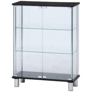 ガラスディスプレイケース 3段 ワイド ブラック(高さ95cm)