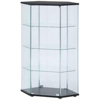 ガラスコレクションコーナーケース ブラック(高さ120cm)