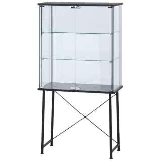 ガラスコレクションボード ワイド ブラック(高さ147cm)