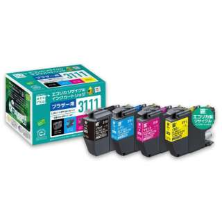 ECI-BR3111-4P 互換リサイクルインクカートリッジ [ブラザー LC3111-4PK] 4色パック