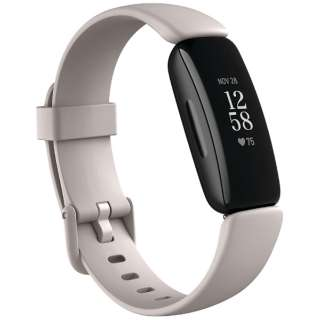 FB418BKWT-FRCJK Fitbit Inspire2 フィットネストラッカー ルナホワイト L/Sサイズ ルナホワイト