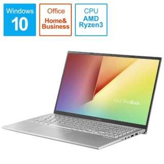 X512DA-EJ13STS ノートパソコン VivoBook 15 X512DA トランスペアレントシルバー [15.6型 /AMD Ryzen 3 /SSD:256GB /メモリ:8GB /2020年9月モデル]