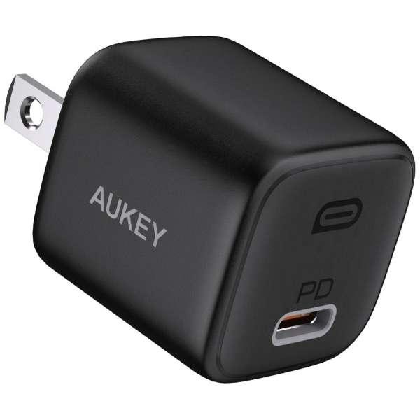 AUKEY(オーキー) USB充電器 Omnia 20W PD対応 [USB-C 1ポート] ブラック AUKEY(オーキー) Black PA-B1-BK [USB Power Delivery対応]