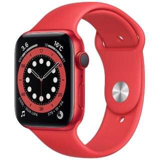 Apple Watch Series 6(GPS + Cellularモデル)- 44mm (PRODUCT)REDアルミニウムケースと(PRODUCT)REDスポーツバンド - レギュラー M09C3J/A
