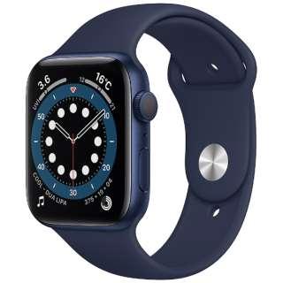 Apple Watch Series 6(GPSモデル)- 44mmブルーアルミニウムケースとディープネイビースポーツバンド - レギュラー M00J3J/A [Series6 /44mm /アルミニウム /スポーツバンド /GPS]