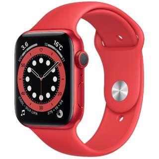 Apple Watch Series 6(GPSモデル)- 44mm (PRODUCT)REDアルミニウムケースと(PRODUCT)REDスポーツバンド - レギュラー M00M3J/A [Series6 /44mm /アルミニウム /スポーツバンド /GPS]