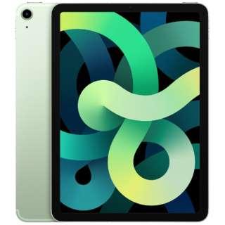 【SIMフリー】iPad Air 第4世代 10.9インチ Wi-Fi + Cellularモデル 256GB - グリーン 【2020年モデル】 [256GB]
