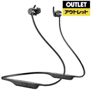 【アウトレット品】 bluetoothイヤホン カナル型 ブラック PI4/BK [リモコン・マイク対応 /ワイヤレス(ネックバンド) /Bluetooth /ノイズキャンセリング対応] 【外装不良品】