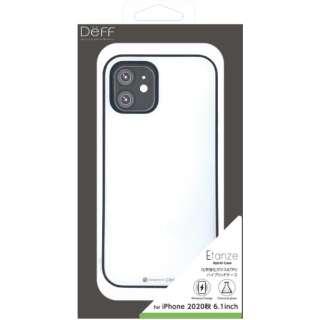 iPhone 12/12 Pro 6.1インチ対応 HYBRID CASE Etanze / ハイブリットケース エタンゼ 化学強化ガラス&TPU複合素材ケース ワイヤレスチャージャー対応 ホワイト DCS-IPE20MWH