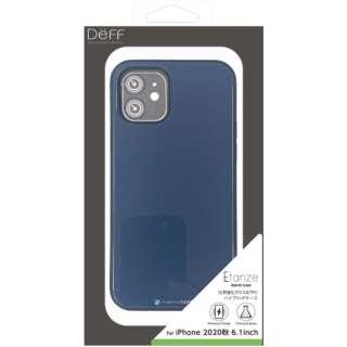 iPhone 12/12 Pro 6.1インチ対応 HYBRID CASE Etanze / ハイブリットケース エタンゼ 化学強化ガラス&TPU複合素材ケース ワイヤレスチャージャー対応 ミッドナイトブルー DCS-IPE20MBU