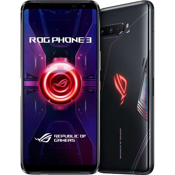 ASUS ROG Phone 3 ブラックグレア「ZS661KS-BK512R16」Snapdragon 865 Plus 6.59型・メモリ/ストレージ:16GB/512GB nanoSIM x2 DSDV対応 SIMフリースマートフォン