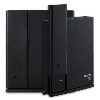 Wi-Fiルーター 親機+中継器セット 1201+574Mbps ブラック WMC-2LX-B [Wi-Fi 6(ax)/ac/n/a/g/b]