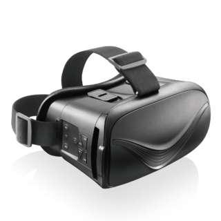 VRゴーグル Bluetoothコントローラー一体型 ブラック ブラック VRG-BT02BK