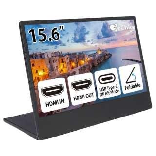 OnLapM505E USB-C接続 PCモニター On-Lap M505E ブラック [15.6型 /ワイド /フルHD(1920×1080)]