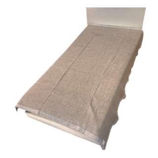 カシミヤ毛布(毛羽部分)FQ09922501 (シングルサイズ/140×200cm/ベージュ)【日本製】