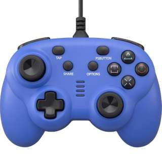 PS4/SWITCH用 ワイヤードコントローラーミニ ブルー CY-NSP4WCM-BL ブルー CY-NSP4WCM-BL 【PS4】