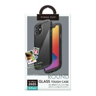 iPhone 12/12 Pro 6.1インチ対応ガラスタフケース ラウンドタイプ ブラック Premium Style ブラック PG-20GGT01BK