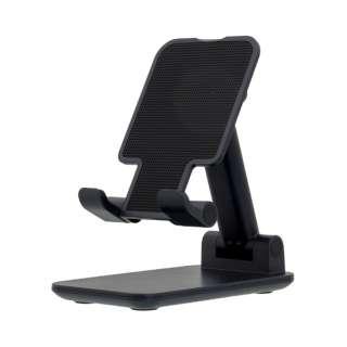 スマートフォンスタンド 高さ調整可能 角度調整可能 折り畳み コンパクト 持ち運びに最適 テレビ電話 テレビ会議 テレワーク 動画視聴 ブラック OWL-STD04-BK